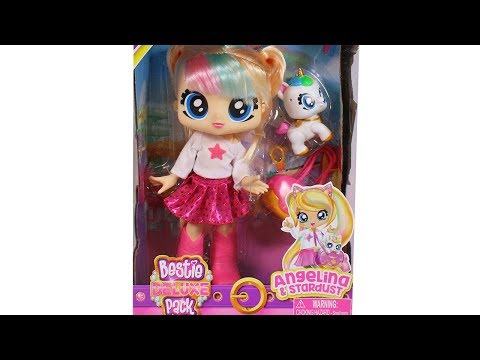BFF Bestie Deluxe Pack Doll Angelina and Stardust Best Furry Friends Unboxing Toy Review