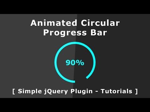 Animated Circular Progress Bar - jQuery Circular progress bar With