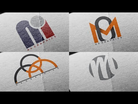Logo Design Tutorial - OM - MO Logo Design | 4 Logo Design in One Video | By as graphics thumbnail