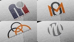 Logo Design Tutorial - OM - MO Logo Design | 4 Logo Design in One Video | By as graphics