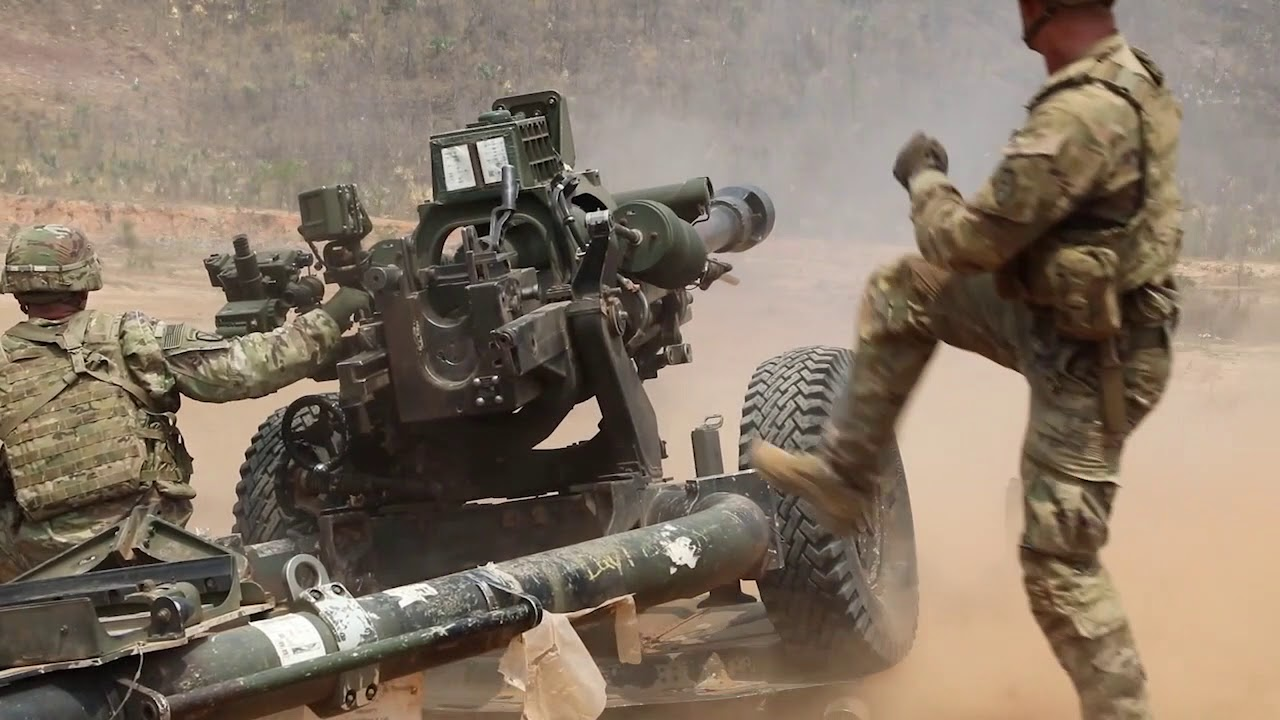 US Soldiers 3rd Infantry Brigade Combat Team – Mortar and Field Artillery Live Fire