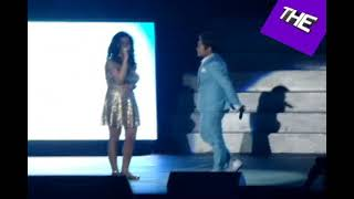Charice and her girlfriend Alyssa sings on stage for the first time