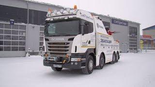 Грузовой эвакуатор Scania (СибТракСкан). Часть 1