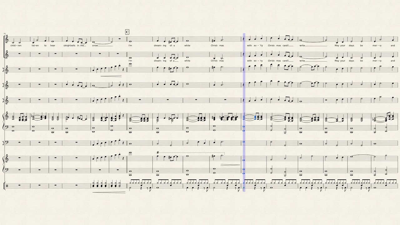 Music Score of White Christmas by Irving Berlin - Orchestral version ...