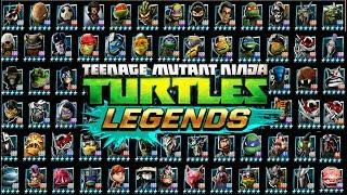 ВСЕ ПЛАТИНОВЫЕ ГЕРОИ игры Черепашки ниндзя Легенды Начало Турнира бой всех героев TMNT Legends