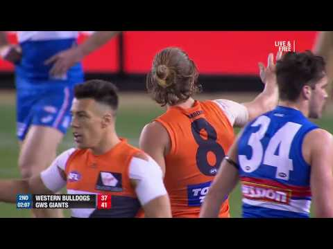 Round 21 AFL: Western Bulldogs v GWS Giants Highlights
