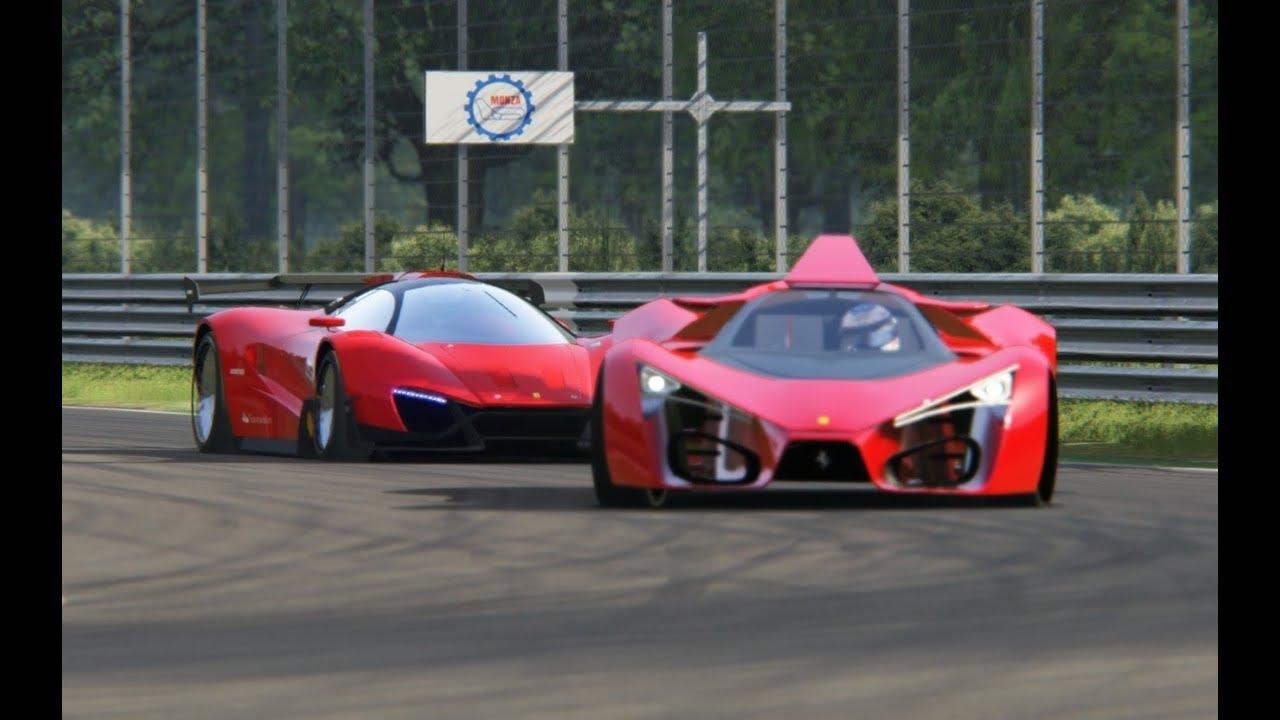 Ferrari Xezri Concept vs Ferrari F80 Concept at Monza Circuit