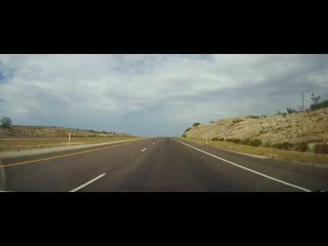 Driving on Interstate 10 from Fort Stockton, TX to El Paso