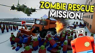 LEGO ZOMBIES SANTA RESCUE MISSION! - Brick Rigs Multiplayer Roleplay & Gameplay Challenge