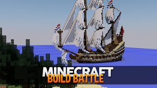 Minecraft: CONSTRUÍ UM BARCO PIRATA! (BUILD BATTLE)
