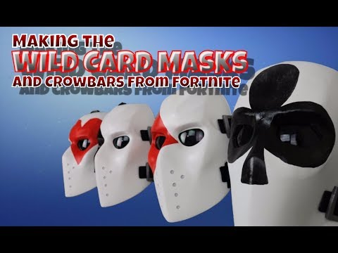 Making the Wild Card Masks and Crowbars from Fortnite