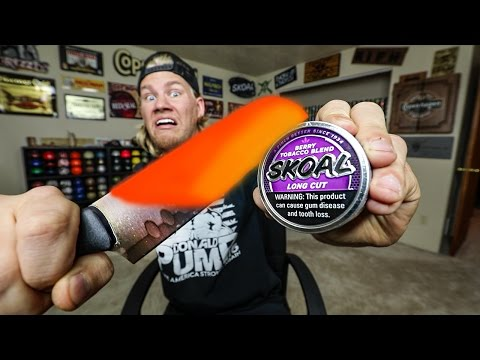 Thumbnail: EXPERIMENT Glowing 1000 Degree KNIFE VS DIP CAN