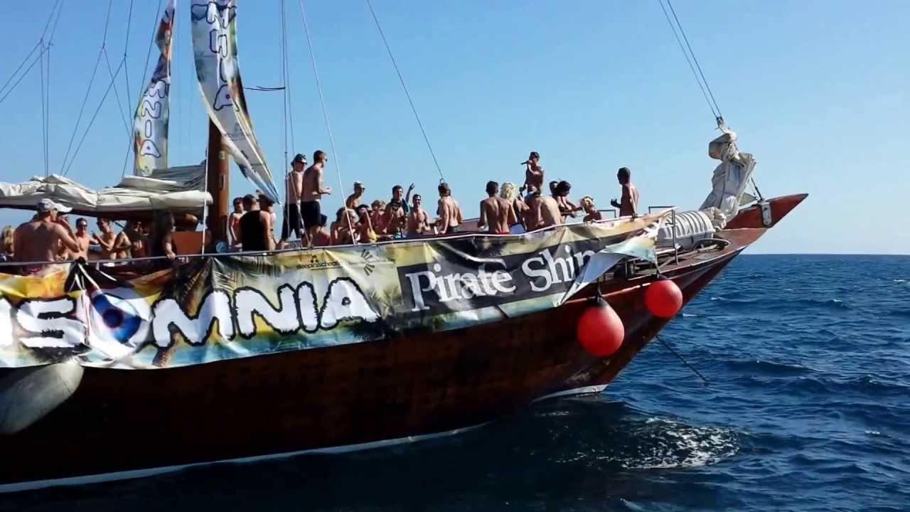 Insomnia Pirate Ship Party In Tenerife YouTube - Pirate ship booze cruise