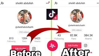 How to increase musically / Tik Tok Followers in Hindi 2018 trick