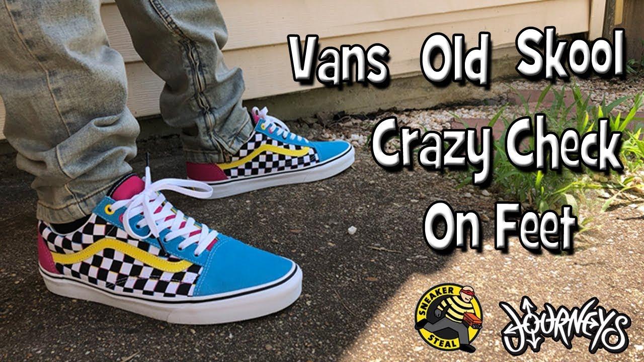 Vans Old Skool Crazy Check On Feet
