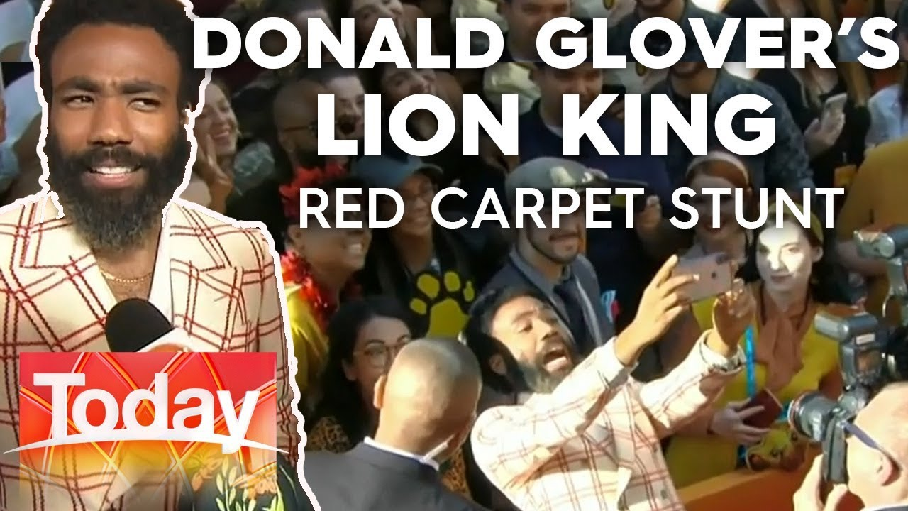 Donald Glover's adorable red carpet stunt at the Lion King red carpet | Today Show Australia