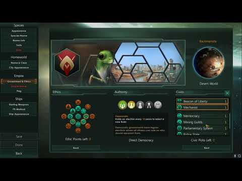 Friendly Space Geckos! Let's Play Stellaris Intro 1/2 |