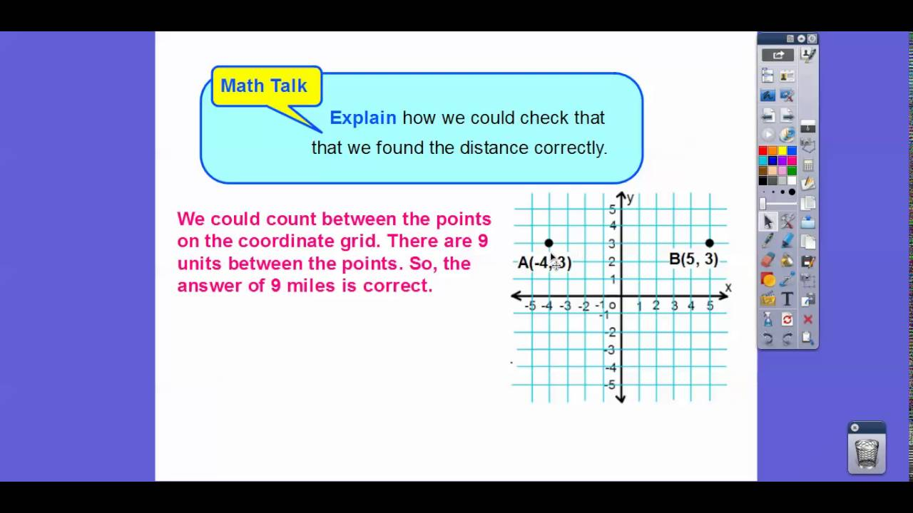 medium resolution of Distance on the Coordinate Plane - Lesson 3.9 - YouTube