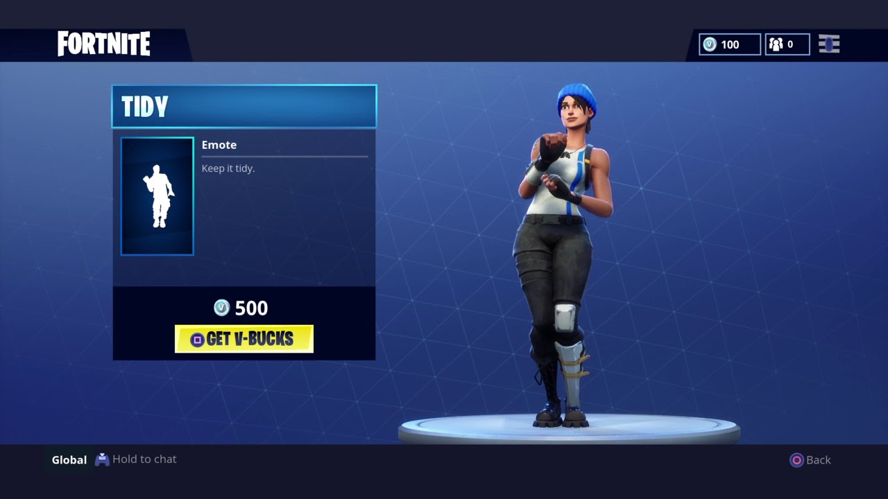 how to get the tidy dance in fortnite