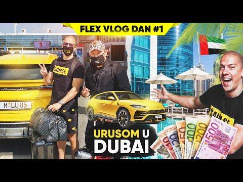 PUTUJEM LAMBORGHINI URUSOM U DUBAI – FLEX VLOG #1 *put 100.000e*