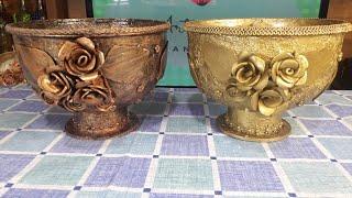 Vaso Decorativo Utilizando CDs, Lata de Atum e uma Vasilha Velha