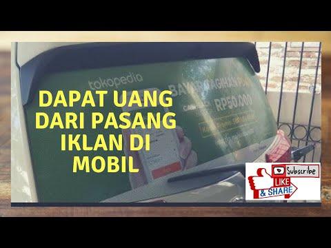 Cara mendapatkan uang dengan menempelkan iklan di kaca belakang mobil