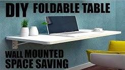 DIY SPACE SAVING FOLDABLE TABLE