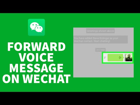 Wechat forward whatsapp to to voice how message Transfer and
