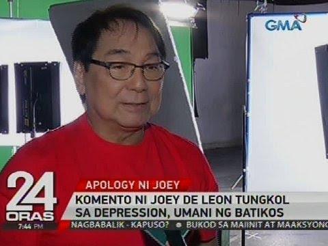 Joey de Leon, humingi na ng paumanhin kaugnay sa kanyang komento tungkol sa depression
