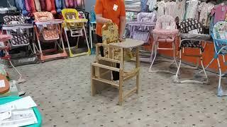 Обзор стульчика для кормления Гном