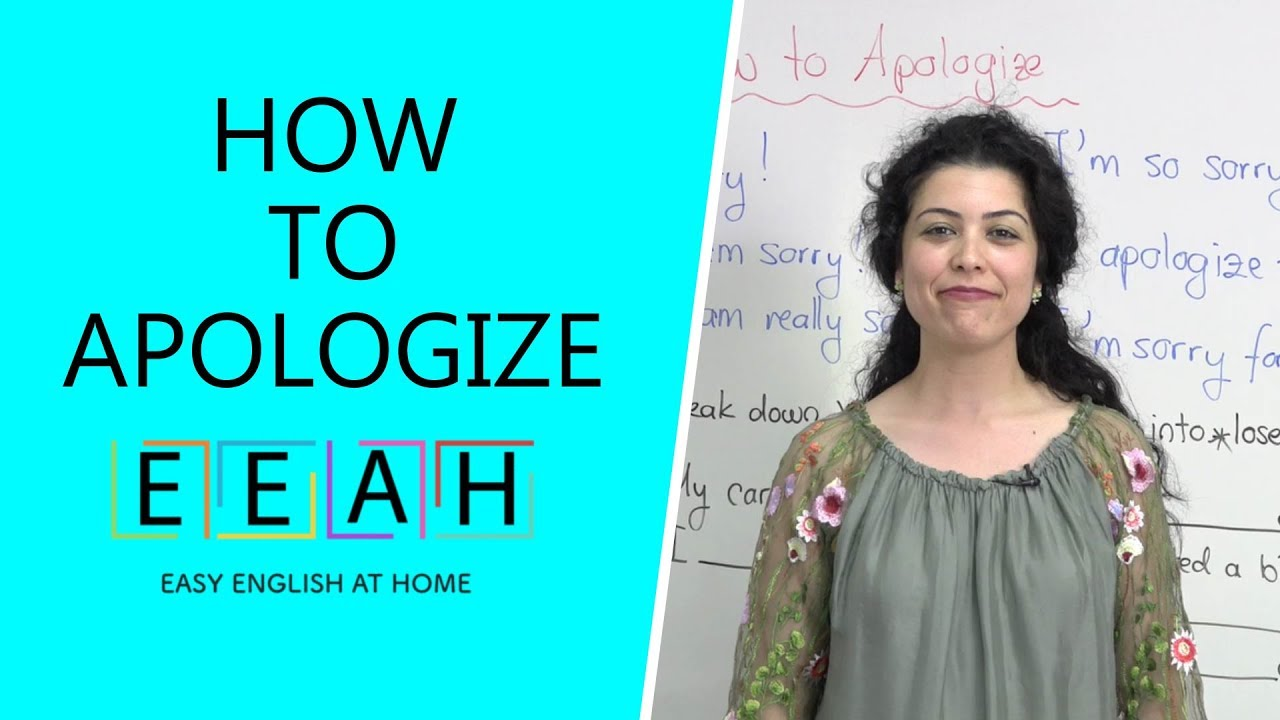 Elementary English #18: How To Apologize  Easy English At Home