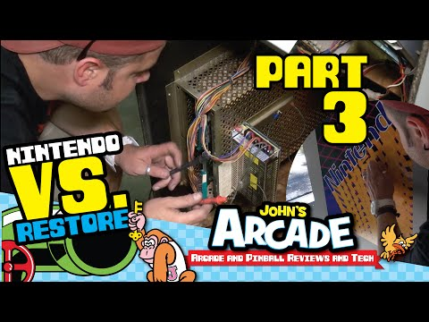 Nintendo Vs. Unisystem Arcade Restore Part #3 - Paint, T-molding, Power Supply, and way more!