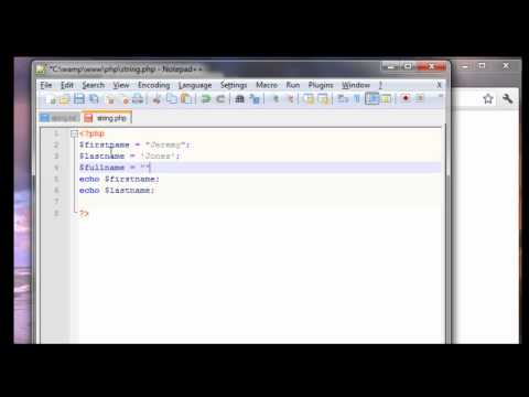 PHP Tutorial - Strings & String Concatenation