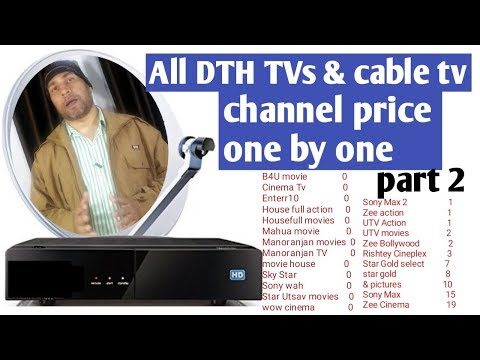 TRAI Rules dish TV & cable TV monthly pack part2
