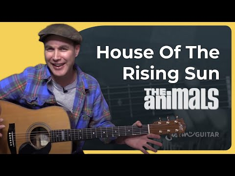 House of the Rising Sun - The Animals - Beginner Easy Song Guitar Lesson Acoustic (BS-610)