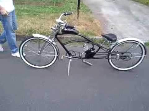 Stretched 80cc Motorized Bike Youtube