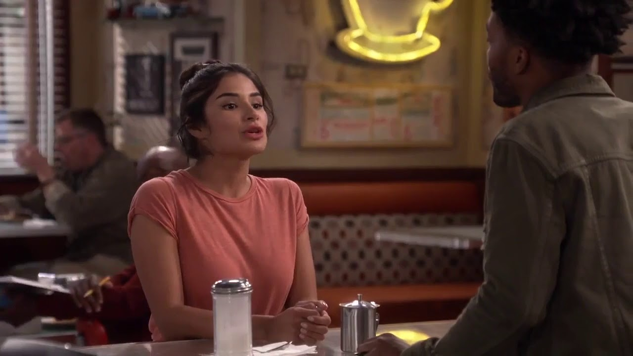 Sofia's red and navy plaid shirt on Superior Donuts ...  |Diane Guerrero Superior Donuts