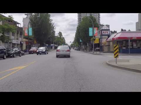 City of New Westminster - British Columbia Canada - Driving Around the Business District