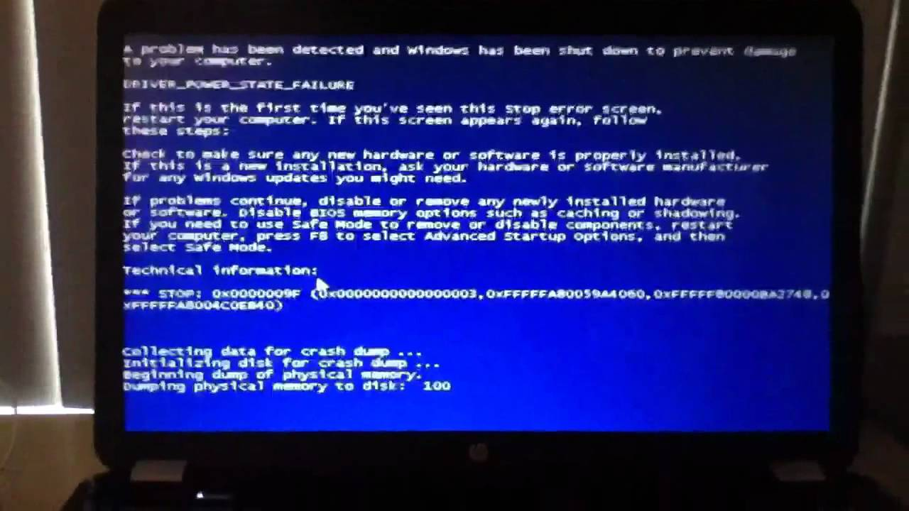 first blue screen of death on my eight month old hp pavilion g7