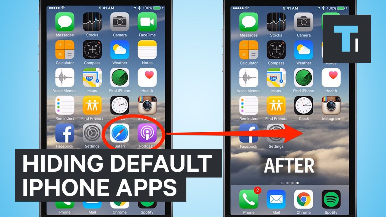 hide apps in iphone hiding default iphone apps 4631