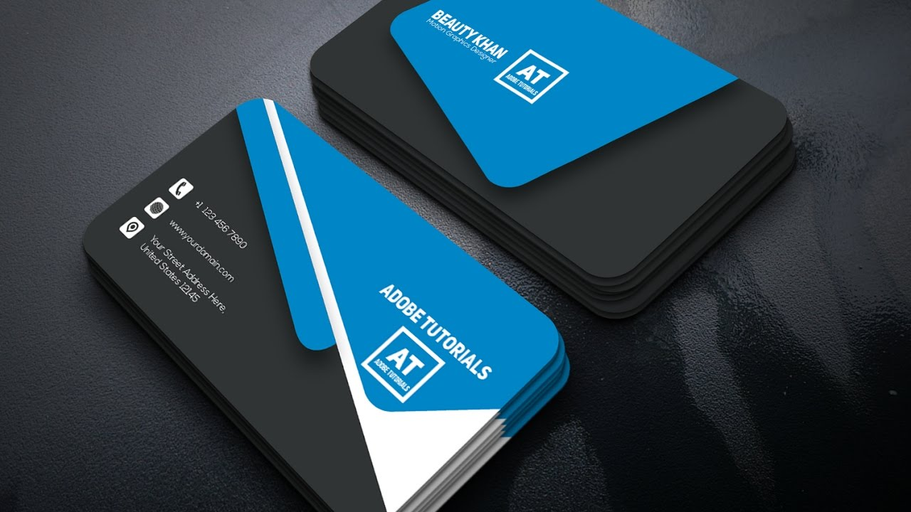 Tutorial | Corporate Business Card Design | Adobe Illustrator CC ...