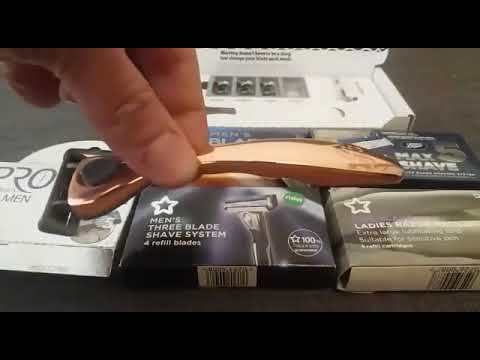 save-on-friction-free-shaving-review,-blades-from-the-highstreet-for-rose-razor-&-silvia-razor