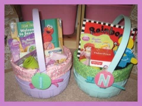 Toddler girls easter baskets youtube negle Images