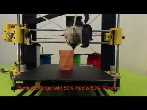 Prusa Diamond Hothead: impresión 3D en RGB con un solo cabezal