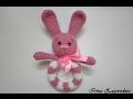Bunny yarn-igrushka.Vyazany hare amigurumi.Zaychik Shnufel hook