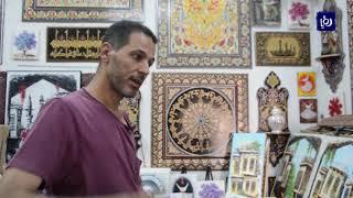 الرسم النباتي على الخشب.. إرث حضاري خاص بمدينة دمشق  - (1-7-2019)