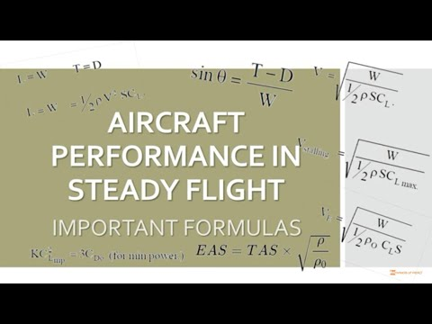 Important formula : Aircraft Performance in Steady Flight I