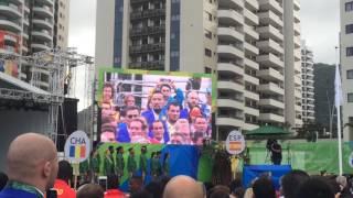 В Олимпийской деревне Рио подняли флаг Казахстана