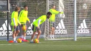 Spectacular GOALS during Real Madrid training session!