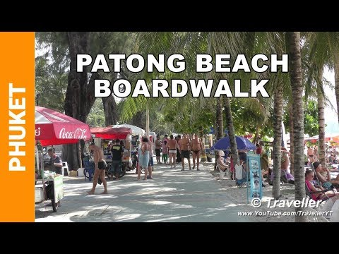 Patong Beach 2016 - A walk along Patong Beach Road  - Phuket holiday